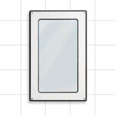 Bathroom mirror, white